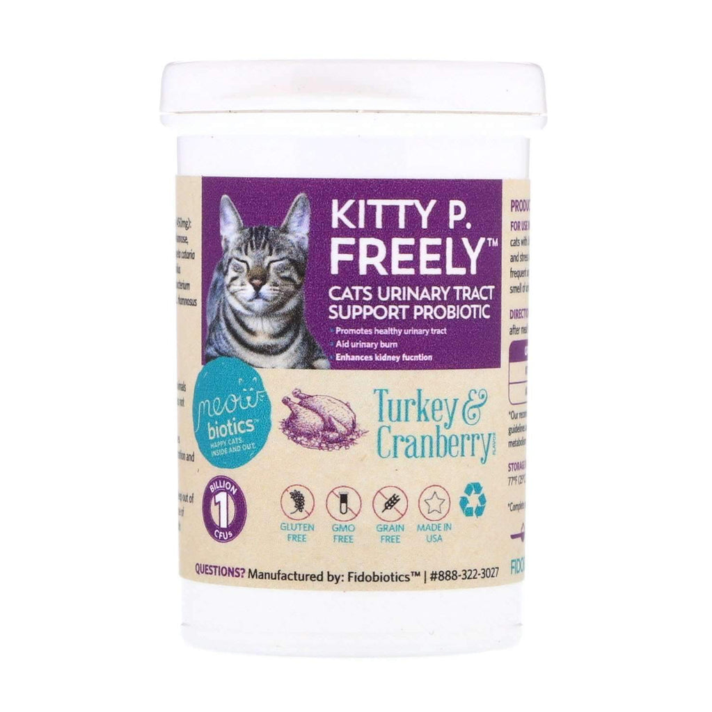 Kitty P. Freely - Urinary Tract Support - Fidobiotics - probiotics for dogs and cats