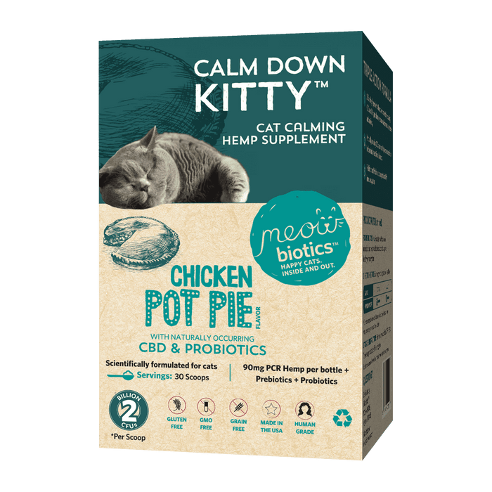 Calm Down Kitty - Hemp with naturally occurring CBD + Probiotics Product