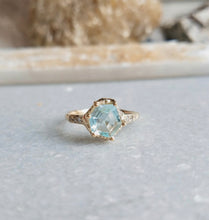 Load image into Gallery viewer, Communion by Joy Guardian star aquamarine ring