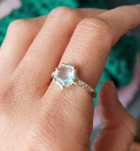 Communion by Joy Guardian star aquamarine ring