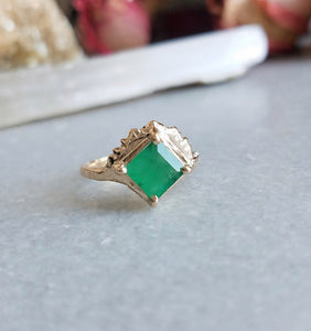 Communion By Joy Star Heart II Emerald Ring