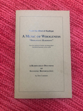 BOOK: A MUSIC OF WHOLENESS
