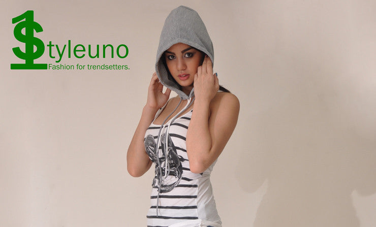 women's grey detachable hood