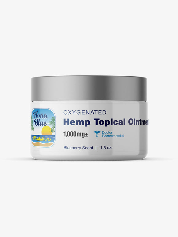 Kona Blue Plantations 1,000mg Full-Spectrum Hemp, 1.5oz Ointment