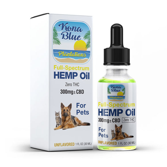 Kona Blue Plantations 300mg Full-Spectrum Hemp Oil for Pets