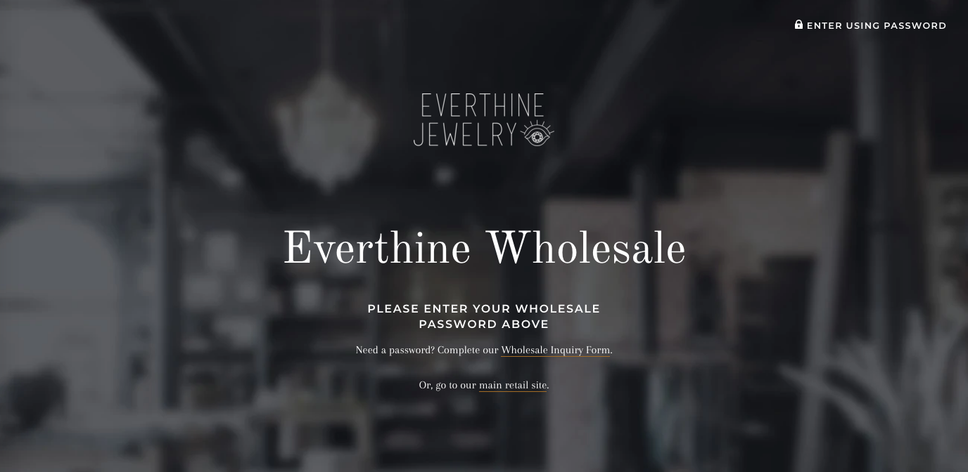Everthine Wholesale - Affordable Shopify Website Design for Wholesale Stores