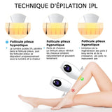 KLIPLProfessional® - Epilation permanent IPL Laser Flashs plus
