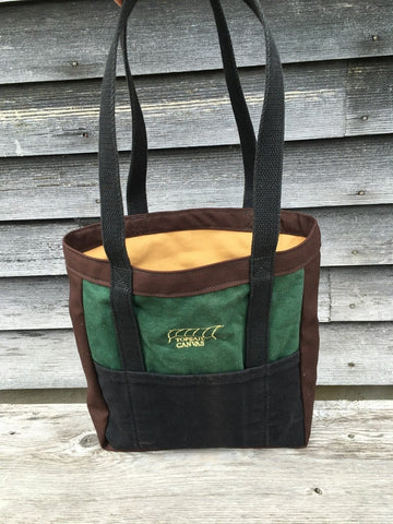 Reclaimed - Green/Black/Brown Tote