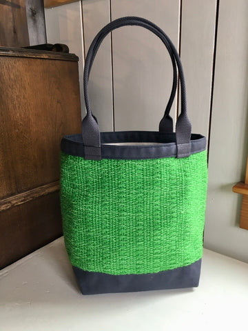 37 Shoulder Tote Open Top - Lime / Grey