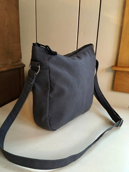 Bent Cross Body - Rose Grey