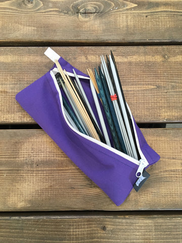 Knitting Pouch, Double Point needles - Purple *Available-Now*