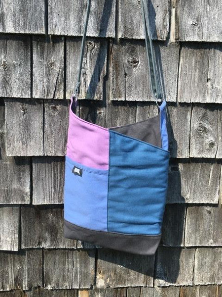 OOAK #14 Blue Lilac Patch Tote