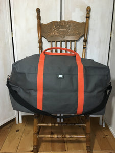 The Duffel (XL) - Grey/Orange *Available-Now*