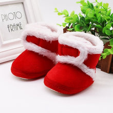 Load image into Gallery viewer, WEIXINBUY winter baby boys girls shoes russia winter infants warm shoes Faux fur girls baby booties Leather boy baby boots