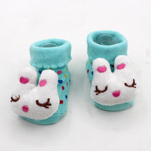 Load image into Gallery viewer, Excellent Quality Baby Girl Foot Socks Funny Happy Socks Newborn Rubber Anti Slip Socks