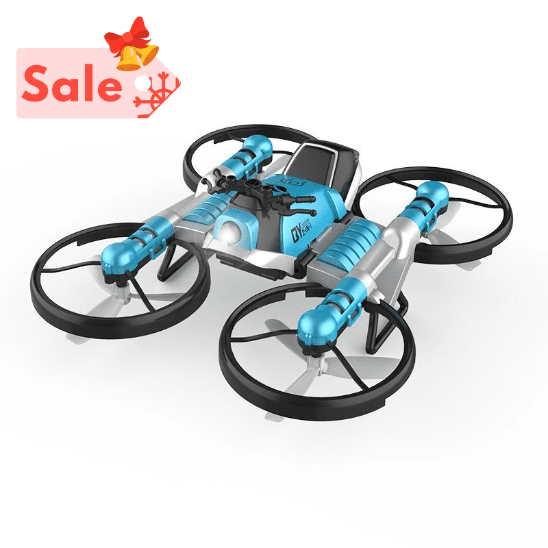 WiFi FPV RC Drone Motorcycle 2 in 1 Foldable Helicopter Camera 0.3MP Altitude