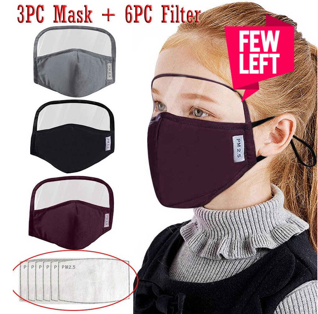 Kids Face Shield Mask With 6 PM2.5 Filters   Unisex