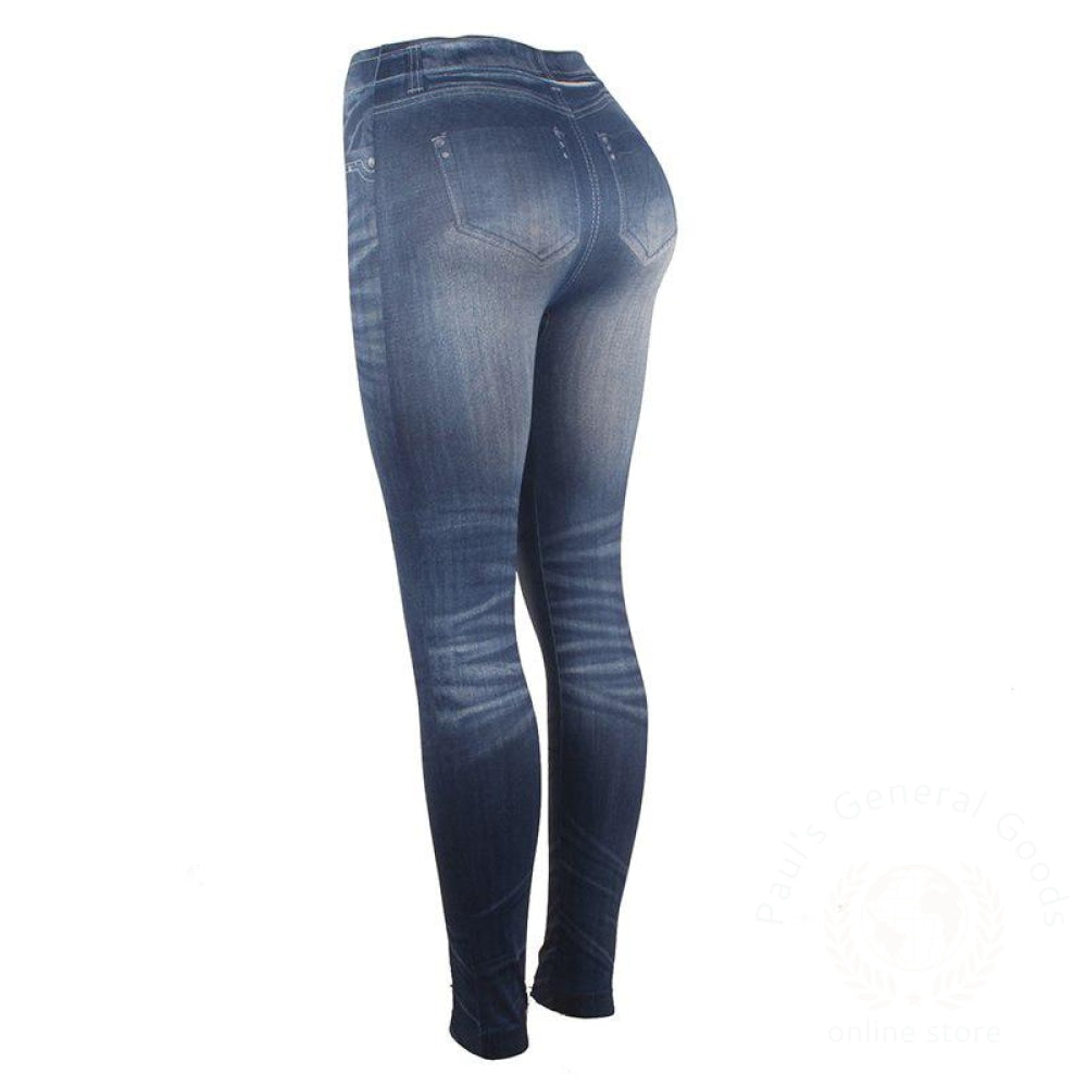 Legging Elastic Stretch Imitation Jeans