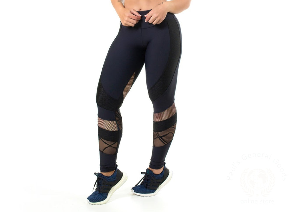 Legging Embroidered Tulle Emana Uv50+ Fashion Fitness S ( 0-4 ) / Black 50+ Uv Protection It Blocks