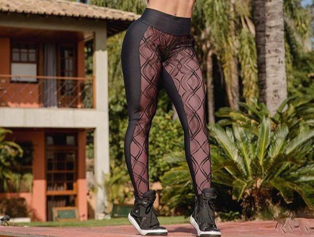 Legging With Lined Tulle Uv50+ Emana Top Designer Fino Corpo S ( 0-4 ) / With Lined Tulle