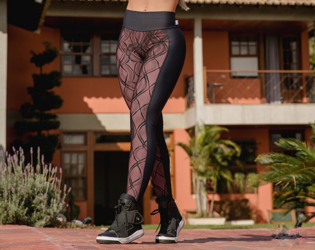 Legging With Lined Tulle Uv50+ Emana Top Designer Fino Corpo