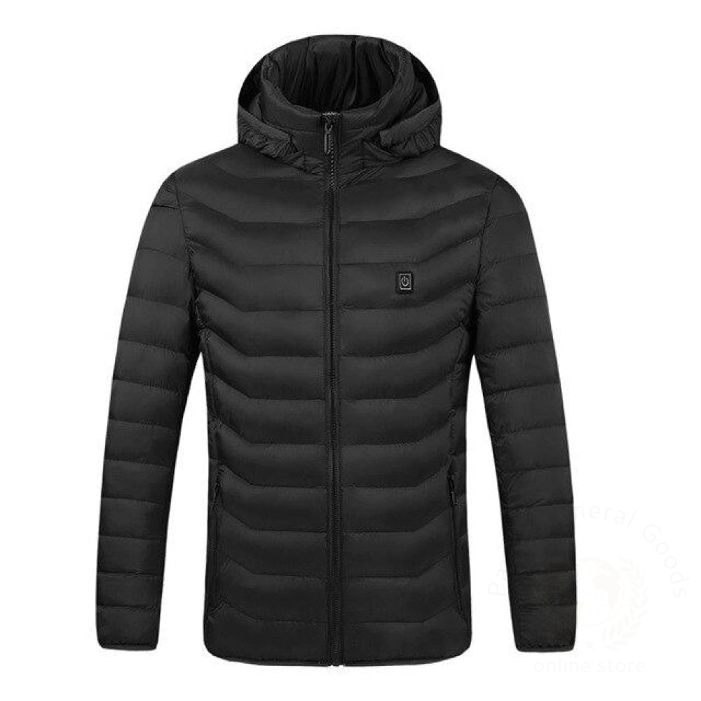Men Women Electric Heating Vest Usb Heated Hooded Coat Tops Outwear J9 Black / 4Xl