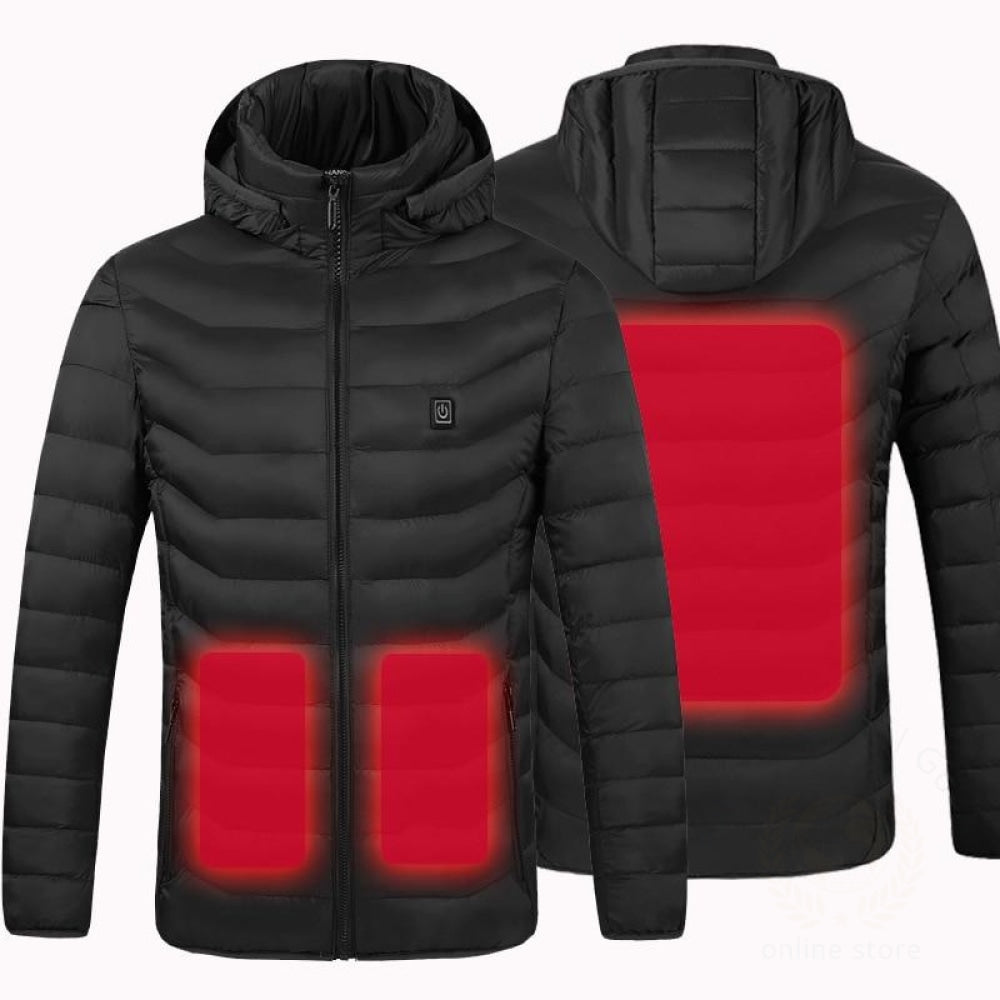 Men Women Electric Heating Vest Usb Heated Hooded Coat Tops Outwear J9