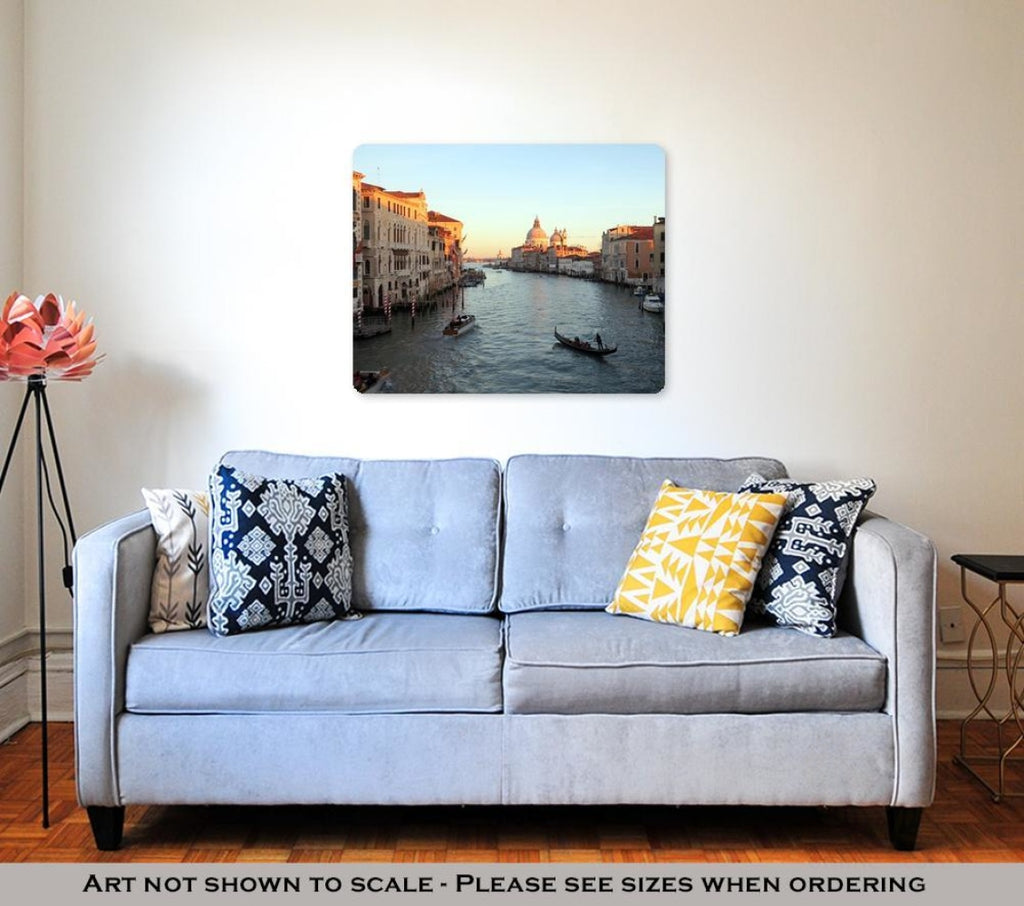 Metal Panel Print Venice Italy Grand Canal Basilicsantmaridellsalute View From