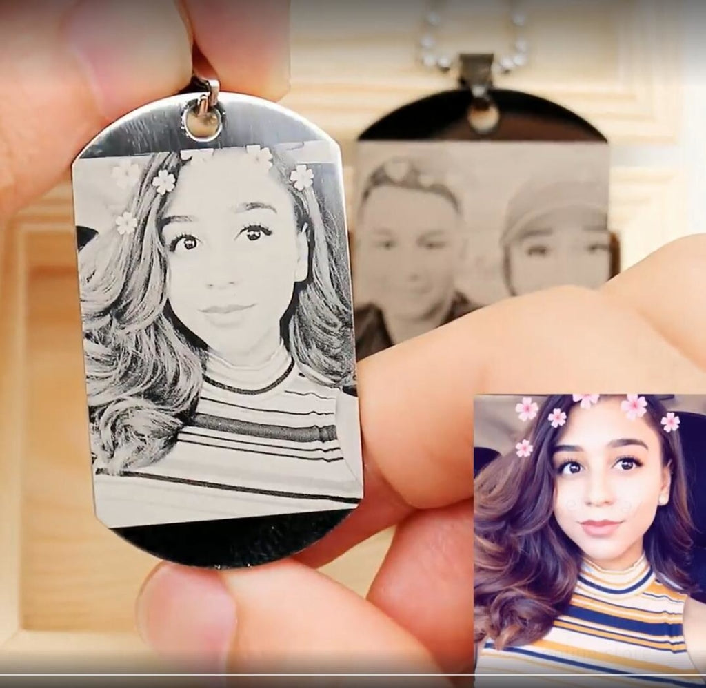 Personalized Picture Necklace Of Titanium Steel Photo