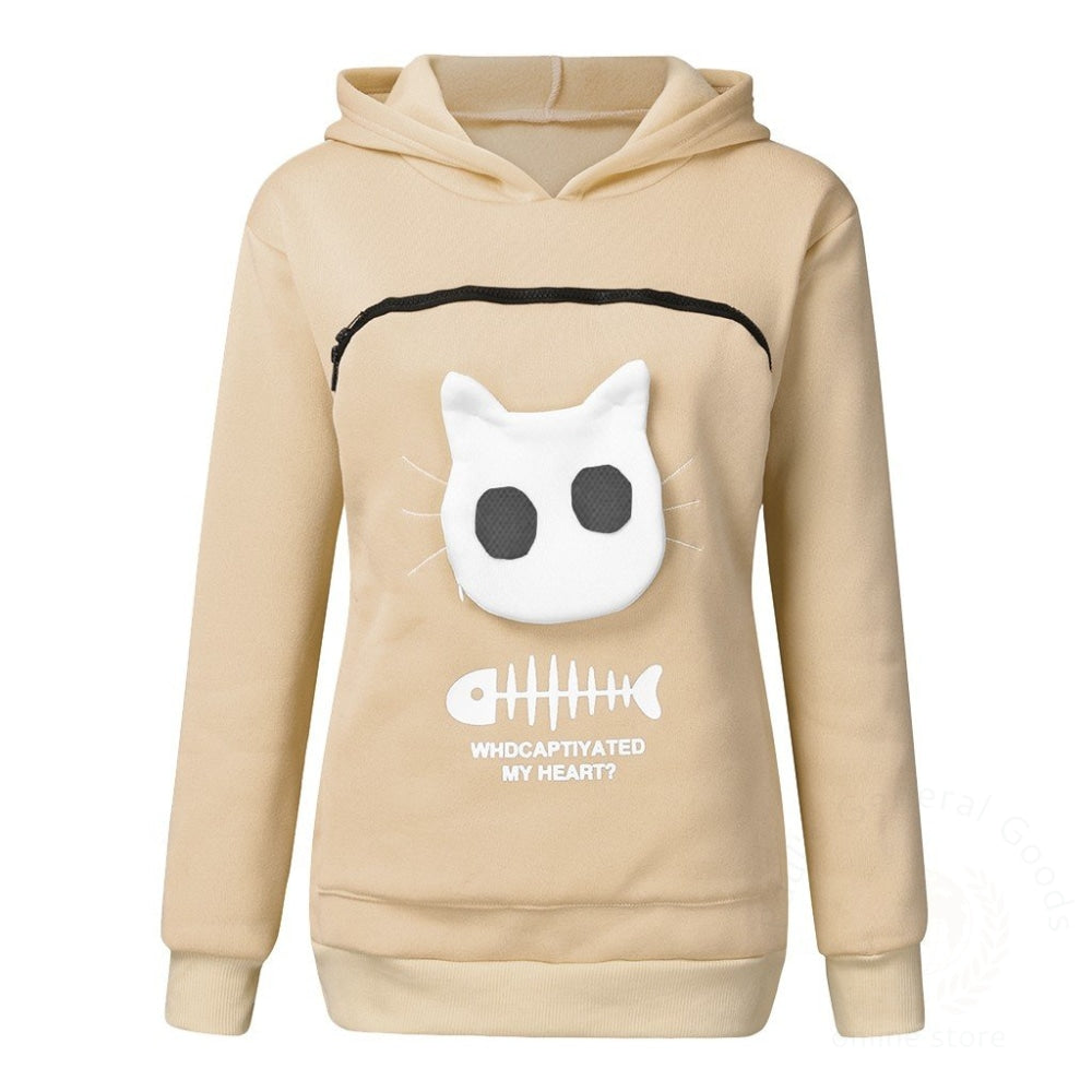 Pet Sweater Cat Outfit Beige / Xl Womens Hoodies