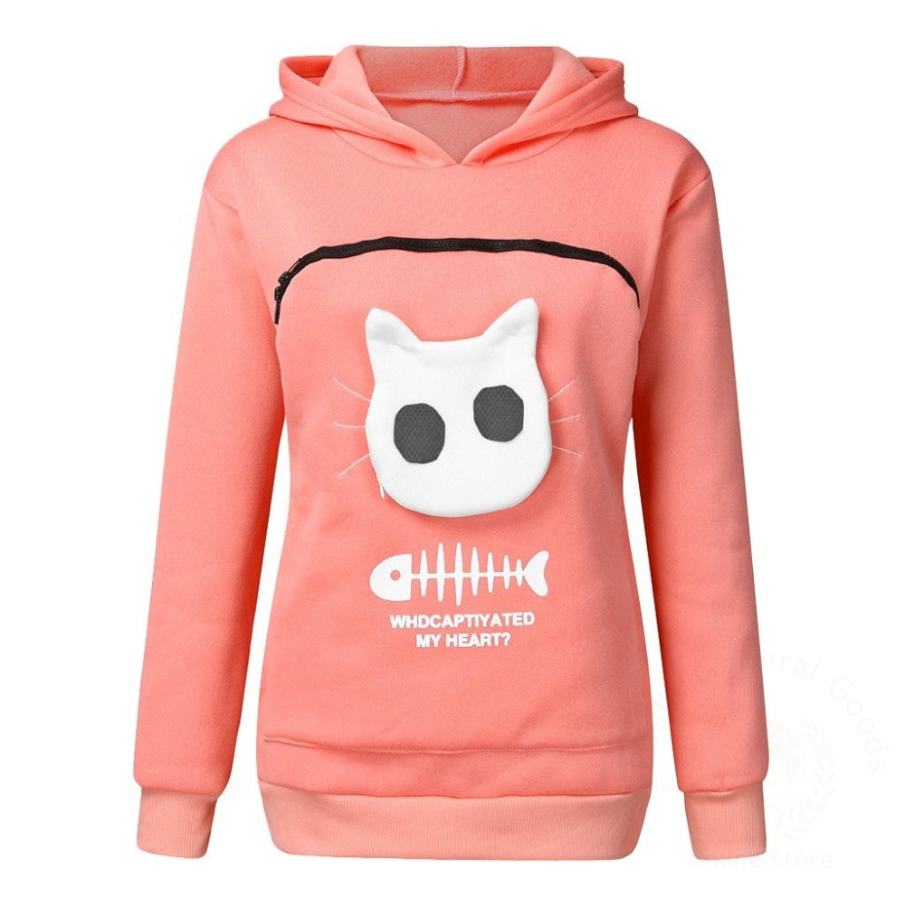 Pet Sweater Cat Outfit Pink / Xs Womens Hoodies