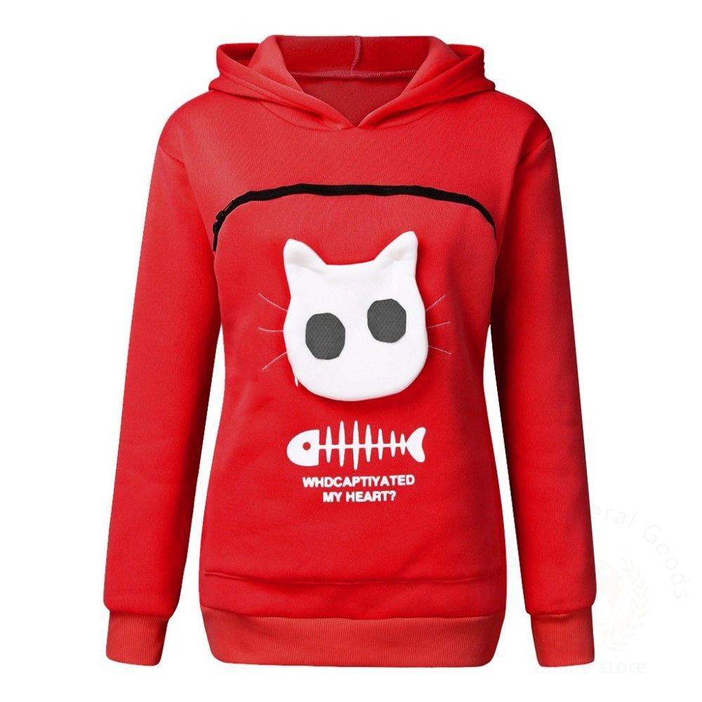 Pet Sweater Cat Outfit Red / M Womens Hoodies
