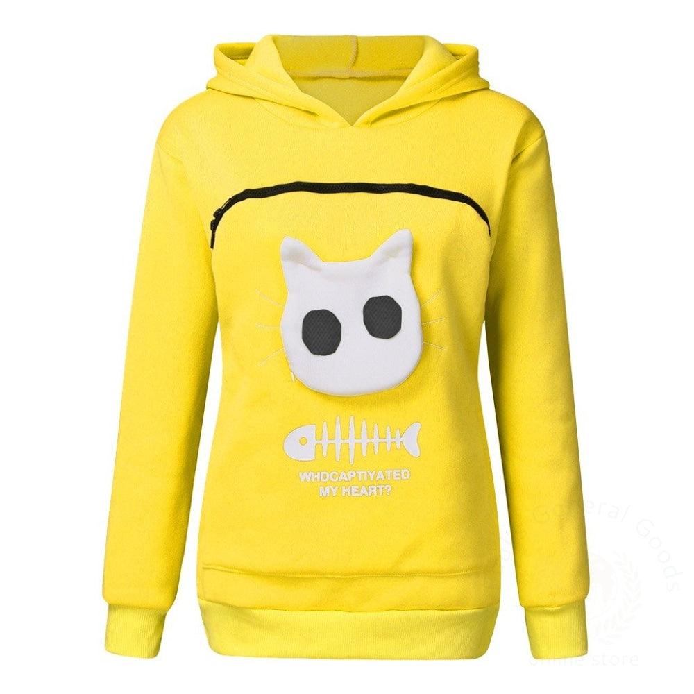 Pet Sweater Cat Outfit Yellow / L Womens Hoodies