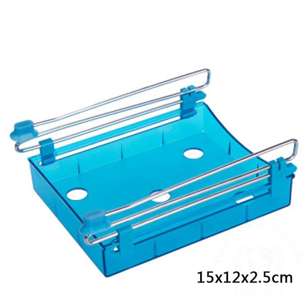 Refrigerator Fresh-Keeping Multi-Purpose Finishing Storage Rack Blue 3 / 1 Kitchen Storage