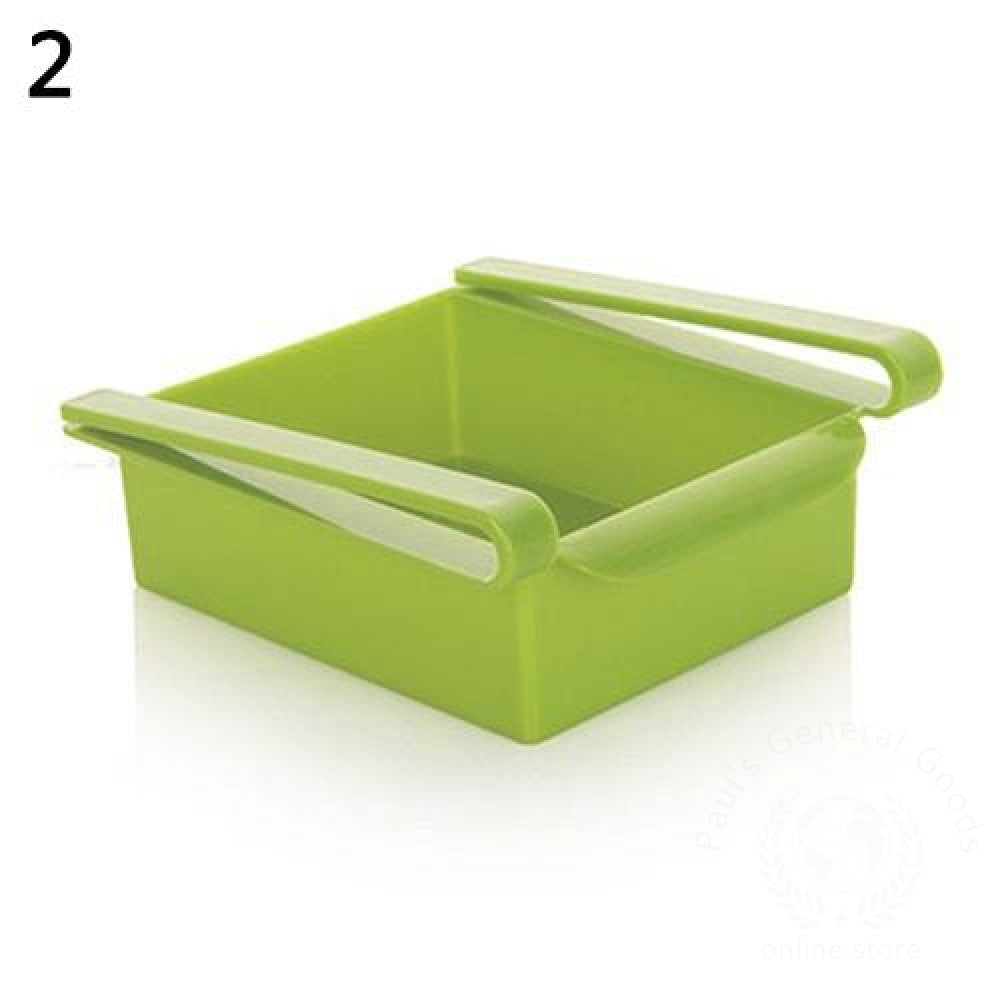 Refrigerator Fresh-Keeping Multi-Purpose Finishing Storage Rack Green / 1 Kitchen Storage