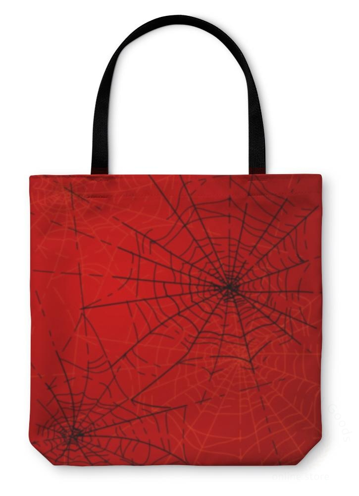 Tote Bag Halloween Spiders Web