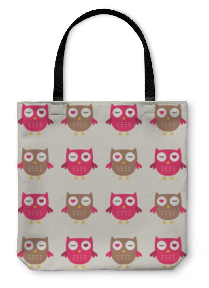 Tote Bag Owls Pattern
