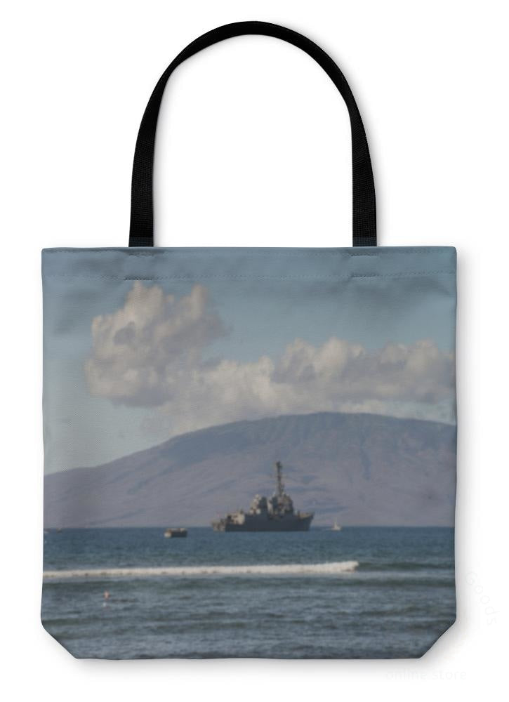 Tote Bag Us Naval Ship