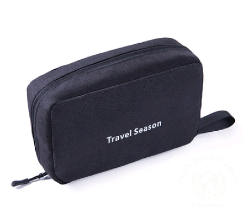 Wash Bag Male Portable Travel Wash Female Outdoor Products Mens Cosmetic Toiletries Storage Black