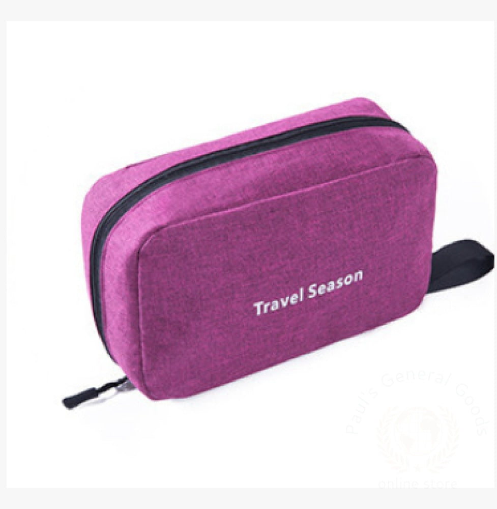 Wash Bag Male Portable Travel Wash Female Outdoor Products Mens Cosmetic Toiletries Storage Dark Red