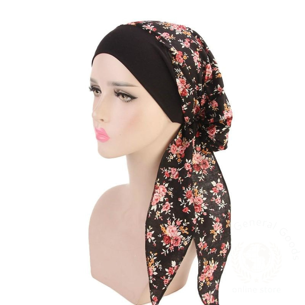 Women Elastic Inner Hijabs Hat Pastoral Style Lady Hair Bands Fashion Muslim Turban Hats Indian Caps