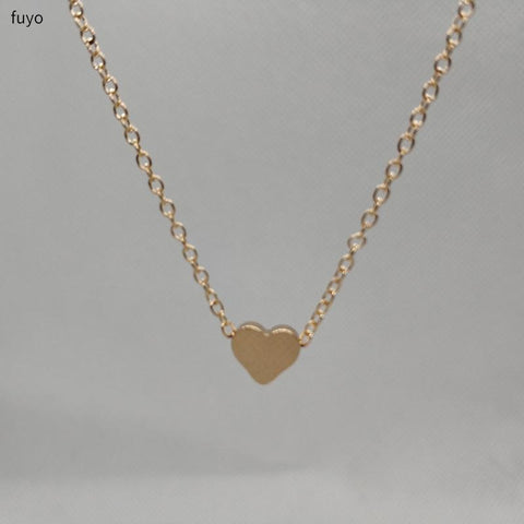 Tiny Heart Choker Necklace for Women gold Silver Chain Small Love Necklace Pendant