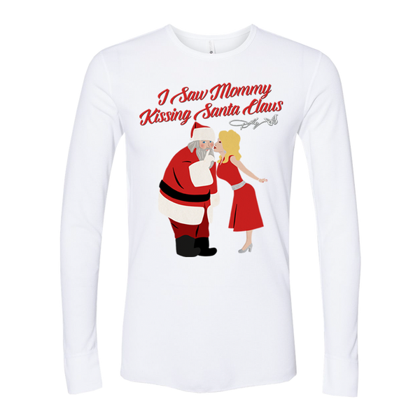 I SAW MOMMY KISSING SANTA CLAUS WHITE THERMAL