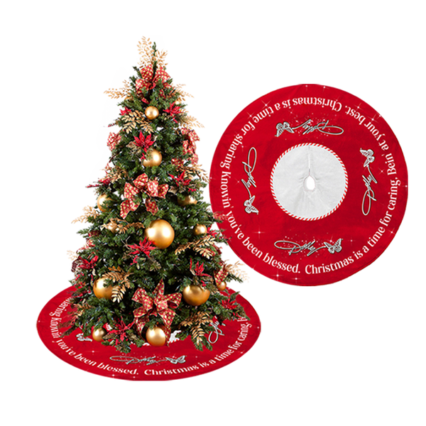 HOLLY DOLLY CHRISTMAS SCRIPT TREE SKIRT