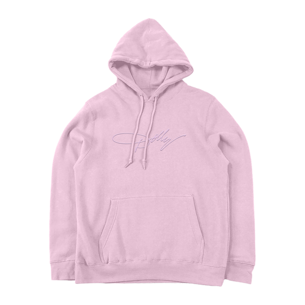 DOLLY HAIRDOS EMBROIDERED PINK PULLOVER HOODIE