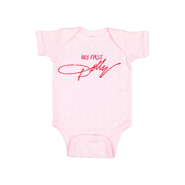 MY FIRST DOLLY PINK ONESIE