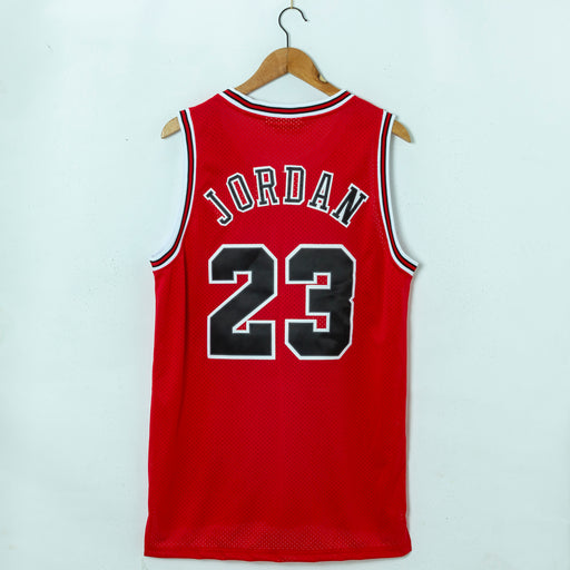 #23 Jordan Retro English Chicago Bulls jersey red