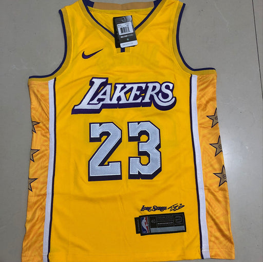 #23 James 2020 lakers city Authentic