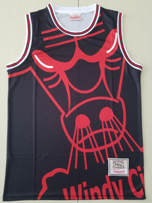 Bulls Big Face M&N jersey black #23 Jordan