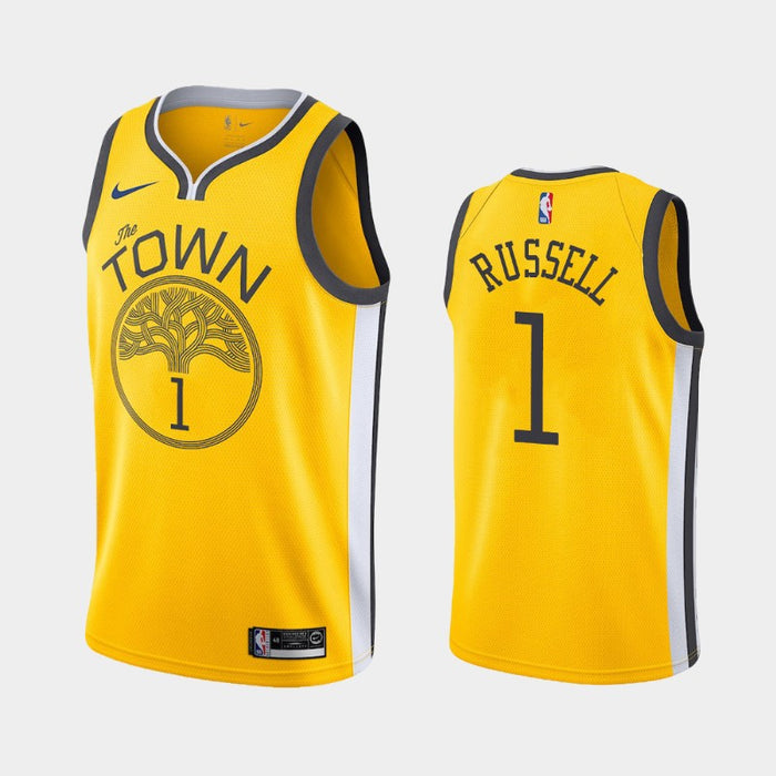 Golden State Warriors D'Angelo Russell jersey